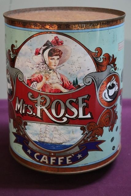 Wonderful Mrs Rose Pictorial Coffee Tin