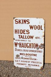Skins, Wool, Hides Melbourne Advertising Sign.#