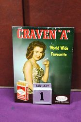 Craven A Cigarettes Pictorial Tin Calendar.#