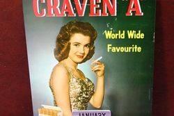 Craven A Cigarettes Pictorial Tin Calendar