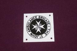 Small St John Ambulance Brigade Enamel Sign, #