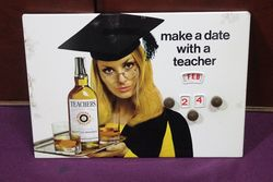 Teachers Scotch Whisky Pictorial Tin Calendar. #