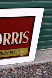 Framed Phillip Morris Cigarette Advertising Glass