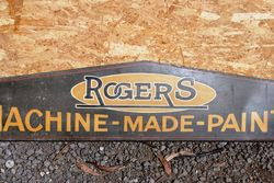 Rodgers Paints Tin Advertising Sign