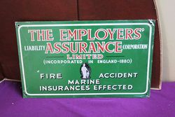 The Employers Assurance Tin Advertising Sign.#