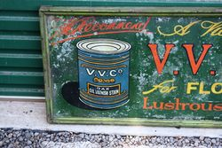 VVC Oil and Varnishes Framed Tin Advertising Sign