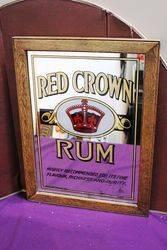 Red Crown Rum Advertising Pub Mirror ,#
