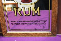 Red Crown Rum Advertising Pub Mirror