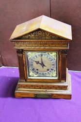 Late C19th Oak Bracket Clock.#