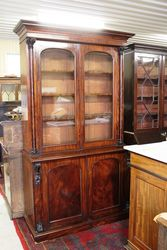 Early Vic Mahogany 2 Door Bookcase.#