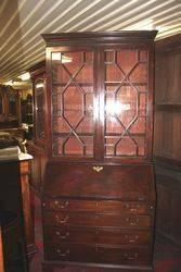 Georgian Mahogany Bureau Bookcase.#