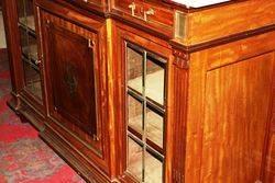 C19th Dutch Brass Inlaid Walnut Sideboard