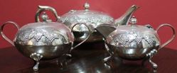 Retro 3Piece Silver Plated Tea Set