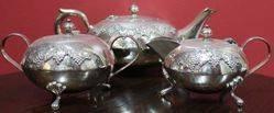 Retro 3-Piece Silver Plated Tea Set