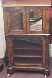 Victorian Music Cabinet  Incorporating a Fall Front Desk #