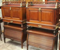 Pair of Late Victorian Fall Front Writing Desks,#
