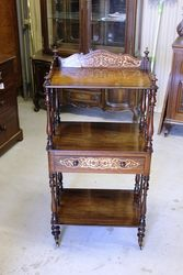Victorian Inlaid Rosewood Wot Not.#