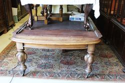 Victorian D End Mahogany Extension Table.#