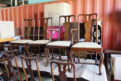 A Quality Set of Early C20th Queen Ann Chairs #