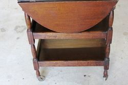 Small Oak Drop Side Tea Trolley