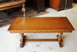 Quality C20th Oak Coffee Table. #