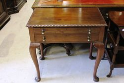 Early C20th Queen Ann Style Cutlery Canteen Table.#