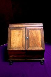 Antique Walnut Desk Top Companion. #