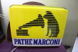 His Masters Voice Marconi Double Sided Light Box.