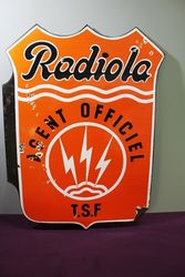 Radiola Agent Double Sided Enamel Sign.#.