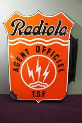 Radiola Agent Double Sided Enamel Sign
