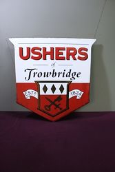 Ushers Trowbridge Pub Advertising Enamel Sign