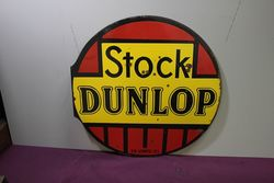 Dunlop Stock Double Sided Enamel Sign.#