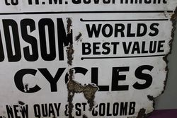 Antique New Hudson Cycles Enamel Sign