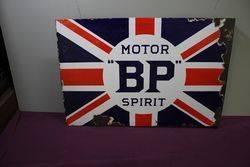 Antique BP Motor Spirit Double Sided Enamel Sign.#