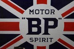Antique BP Motor Spirit Double Sided Enamel Sign
