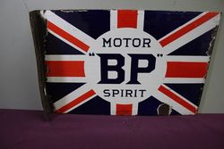 Antique BP Motor Spirit Double Sided Enamel Sign