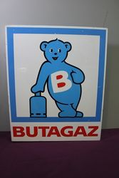 BUTAGAS Pictorial Double Sided Alloy Sign. #