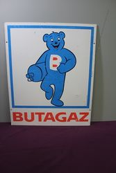BUTAGAS Pictorial  Bear Alloy Sign. #