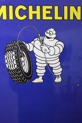 Michelin Tyre Chart Enamel Sign