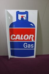 Color Gas Pictorial Double Sided Alloy Sign. #