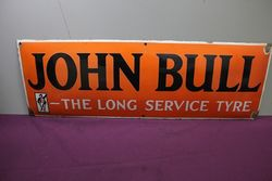 John Bull Convex Enamel  Advertising Sign.#
