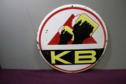 A Vintage KB Beer Pictorial Enamel Sign.#