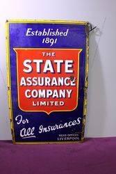 Early State Assurance Co Ltd Enamel Sign #