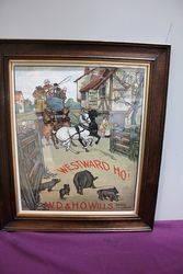 Antique Wills Westward Ho Adv Card