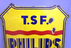 Philips  T S F Service Double Sided Enamel Sign