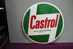 A Very Clean Castrol Z Round Enamel Sign
