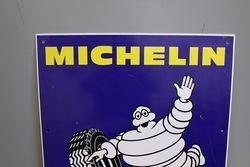 Genuine Michelin Bibendum Figure Tin Sign