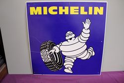 Genuine 1980s Michelin Bibendum Figure. Tin Sign. #