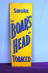 A Vintage Smoke Boars Head Tobacco Enamel Sign.#