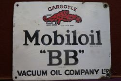 Mobiloil Gargoyle  BB Enamel Advertising Sign #